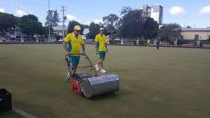 Jackaroos 2018 - mowing the greens