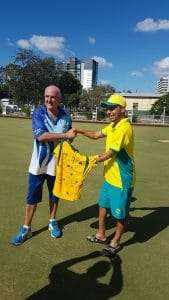 Jakaroos 2018 Presenting a signed shirt to WBC