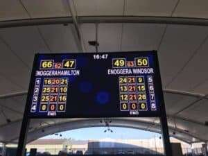 A reminder of the score - clear winners :-)
