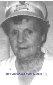 Bev Whitehead - Ladies President 1995 and 2000